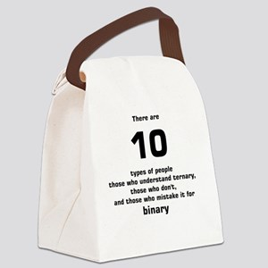 There are 10 types of people tern Canvas Lunch Bag