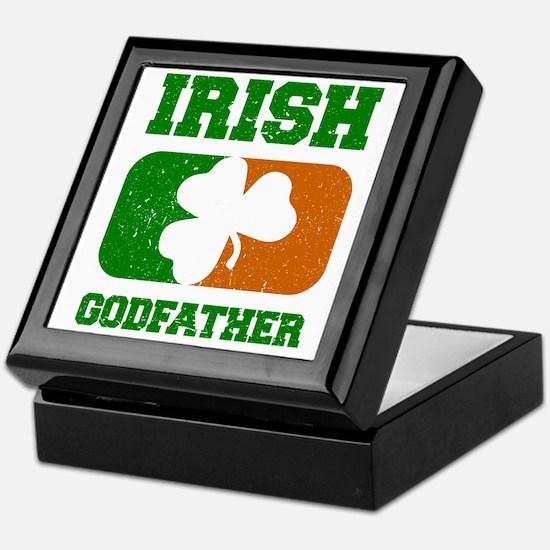 Irish Flag Shamrock Keepsake Box