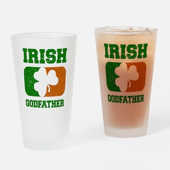 Irish Flag Shamrock Drinking Glass