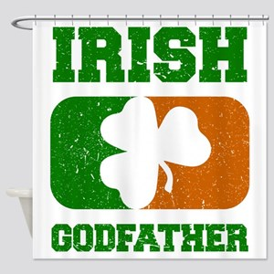 Irish Flag Shamrock Shower Curtain