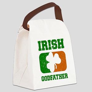 Irish Flag Shamrock Canvas Lunch Bag