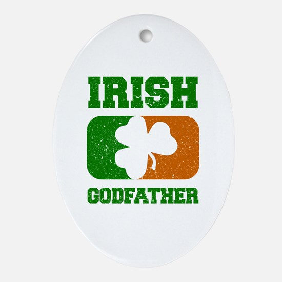 Irish Flag Shamrock Oval Ornament