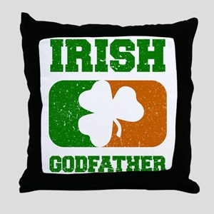 Irish Flag Shamrock Throw Pillow