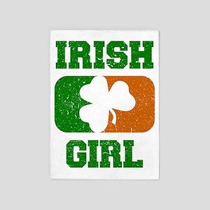 Irish Flag Shamrock 5'x7'Area Rug