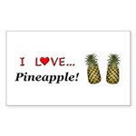 I Love Pineapple Sticker (Rectangle 10 pk)