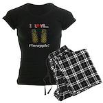 I Love Pineapple Women's Dark Pajamas