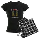 I Love Pineapple Women's Dark Pajamas