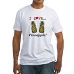 I Love Pineapple Fitted T-Shirt