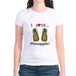 I Love Pineapple Jr. Ringer T-Shirt
