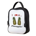 I Love Pineapple Neoprene Lunch Bag