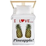 I Love Pineapple Twin Duvet