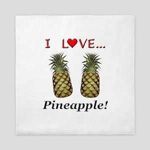 I Love Pineapple Queen Duvet