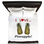 I Love Pineapple King Duvet