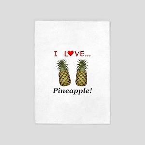 I Love Pineapple 5'x7'Area Rug