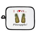 I Love Pineapple Potholder