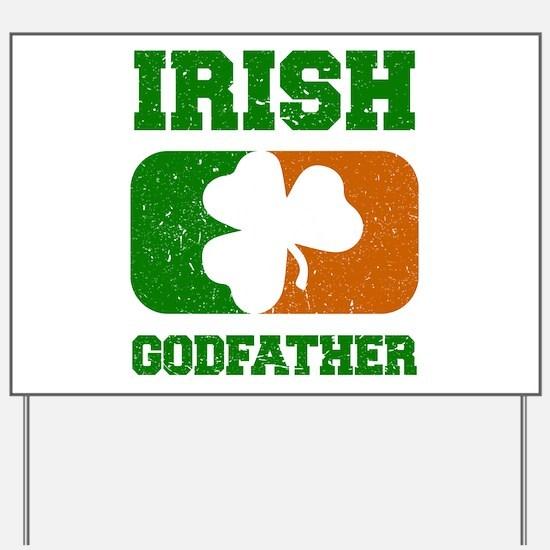 Irish Godfather Shamrock Flag Yard Sign