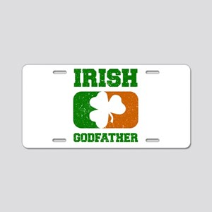 Irish Godfather Shamrock Fl Aluminum License Plate