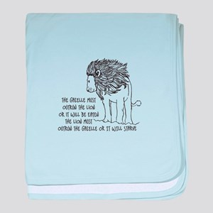 The Galelle Most Outrod The Lion baby blanket