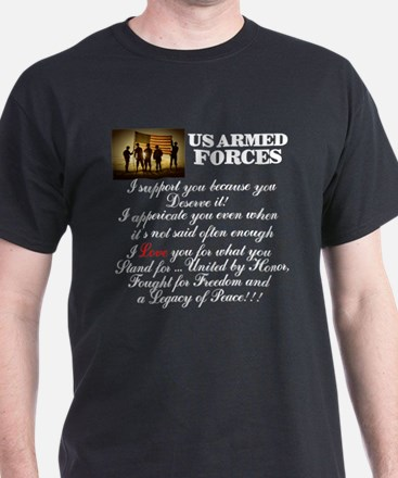 Dear US Armed Forces T-Shirt