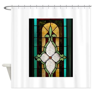 Stained Glass Design Shower Curtains