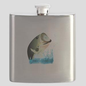 SMALL BASS FISH Flask