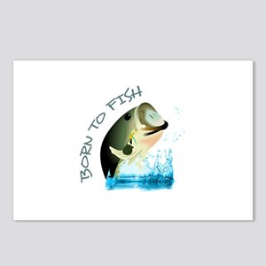 BORN TO FISH Postcards (Package of 8)