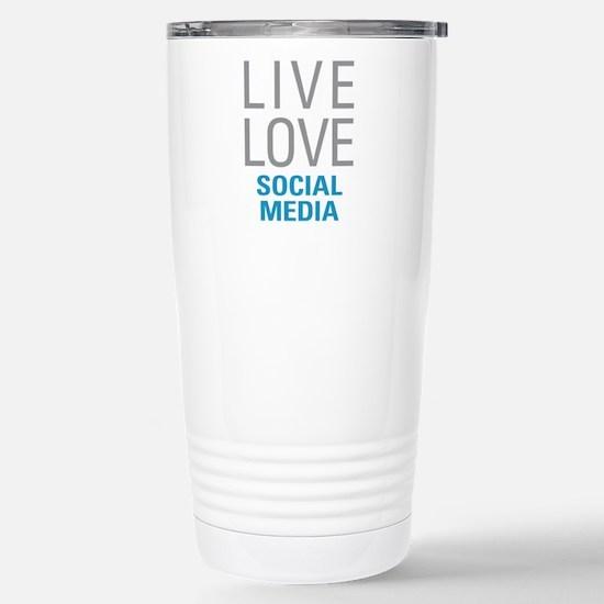 Social Media Stainless Steel Travel Mug