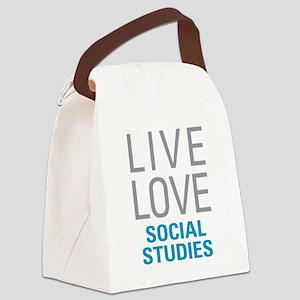 Social Studies Canvas Lunch Bag
