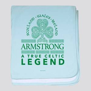 Armstrong, A True Celtic Legend baby blanket