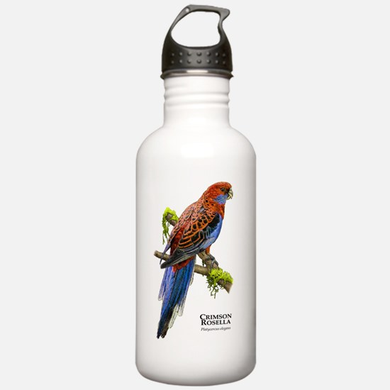 Crimson Rosella Water Bottle