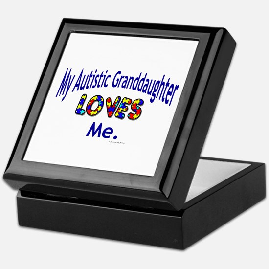 My Autistic Granddaughter Loves Me Keepsake Box