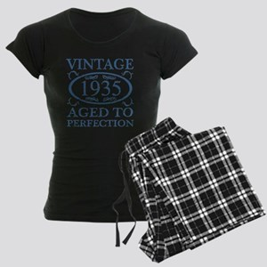 Vintage 1935 Women's Dark Pajamas
