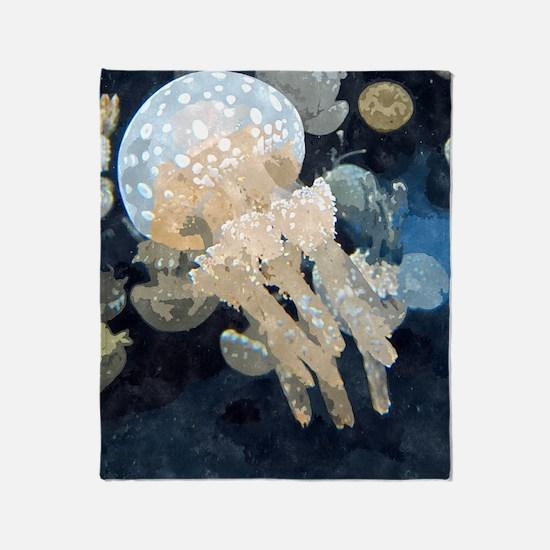 Jellyfish Throw Blanket