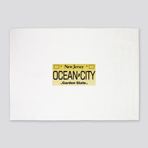 Ocean City NJ Tag Giftware 5'x7'Area Rug
