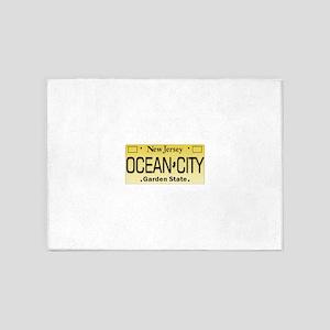 Ocean City NJ Tag Giftware 5'x7'Area Rug