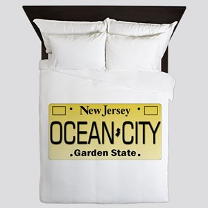 Ocean City NJ Tag Giftware Queen Duvet