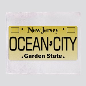 Ocean City NJ Tag Giftware Throw Blanket