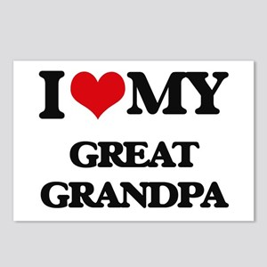 I love my Great Grandpa Postcards (Package of 8)