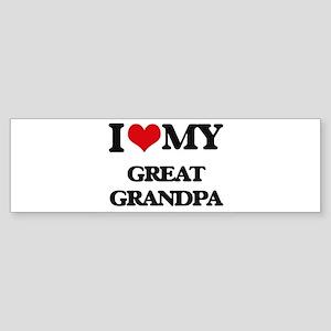 I love my Great Grandpa Bumper Sticker