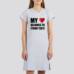 My Heart Belongs To Personalize It! Women's Nights
