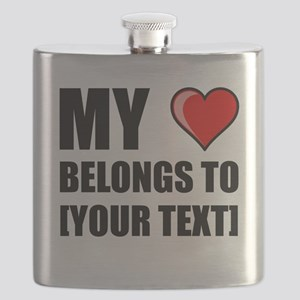 My Heart Belongs To Personalize It! Flask