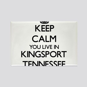 Keep calm you live in Kingsport Tennessee Magnets