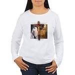Crucifix/Pieta/Prayer Women's Long Sleeve T-Shirt