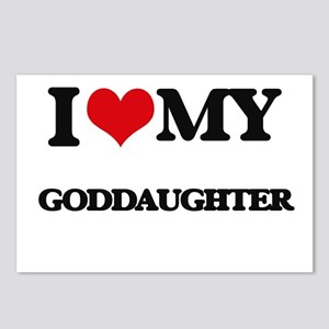 I love my Goddaughter Postcards (Package of 8)