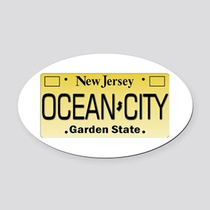 Ocean City NJ Tag Giftware Oval Car Magnet
