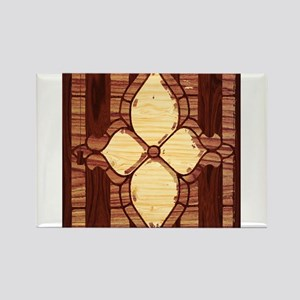 Wood Inlay Design Magnets