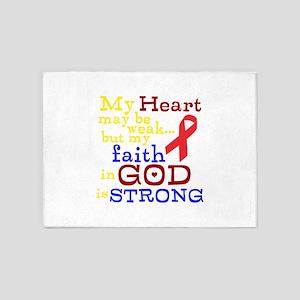 God Strong 5'x7'Area Rug