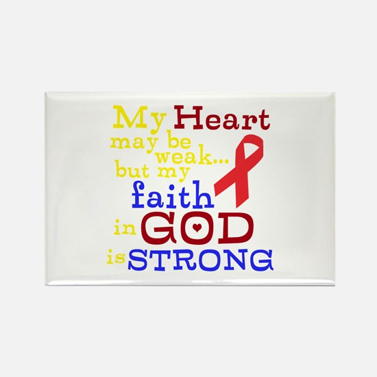 God Strong Rectangle Magnet