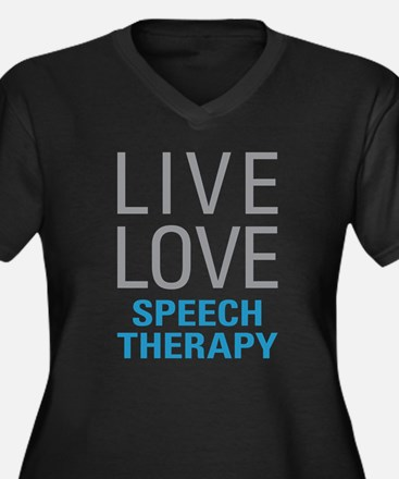 Speech Therapy Plus Size T-Shirt