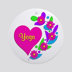 Yoga Heart Ornament (Round)